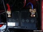 Akumulator z pozłacanymi klemami